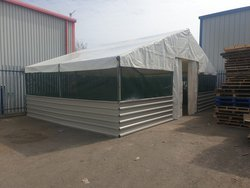 Framed marquee with Mesh and steel sides