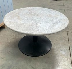 Round Marble Table 85cm for sale