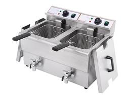 iMettos Counter top Double Tank Deep Electric Fryer