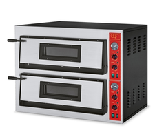 Italian Electric Pizza Oven Twin Deck Full Stone Cladding