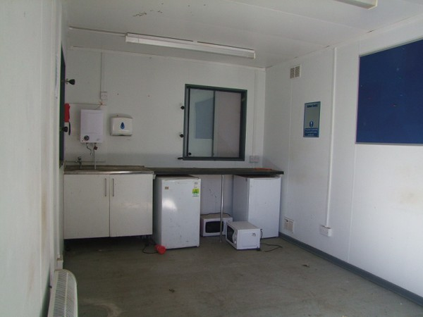 Jack leg site office with kitchen