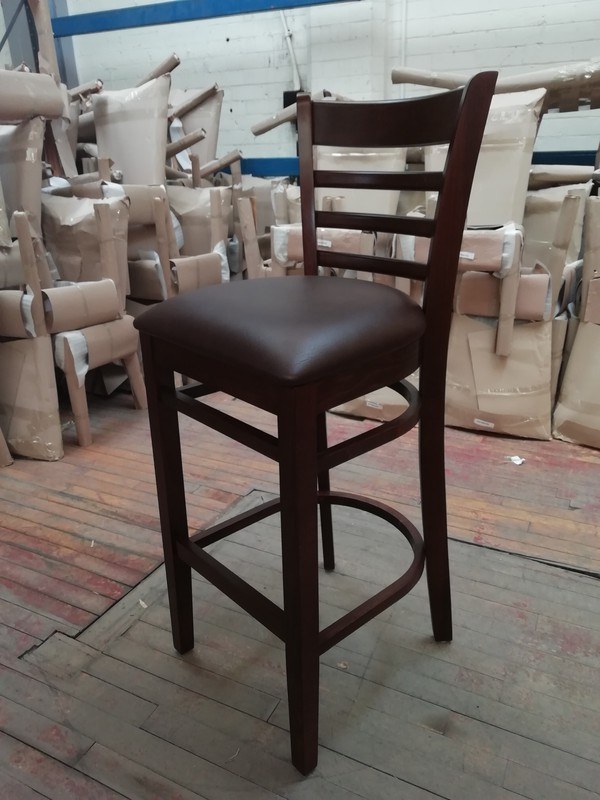 Walnut Frame Bar Stool