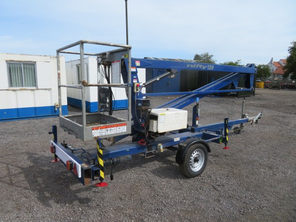 Battery Powered Nifty Lift 120T Trailer Mounted Access Platform for sale