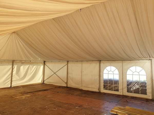 9m x 21m Clearspan Marquee with Roof lining