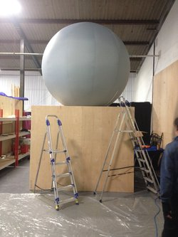 Huge Inflatable Sphere for projecting onto with motor