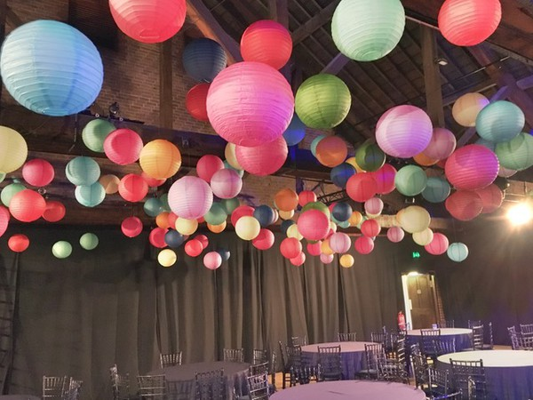Round Paper Lanterns in bright colours