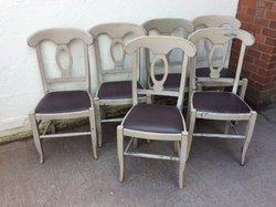 6x Shabby Chic Chairs (CODE DC 962)