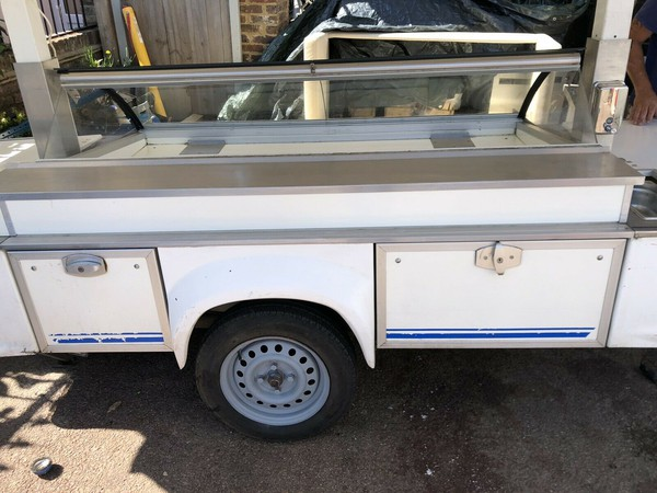 Market stall trailer with fridge