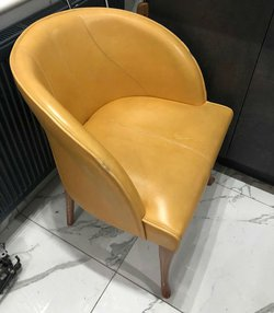 Leather tub chairs for sale
