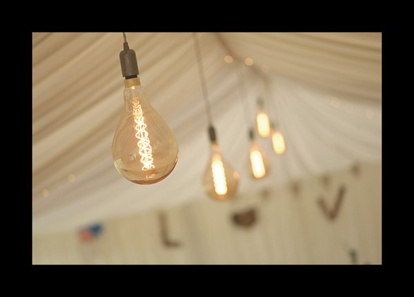 Hanging lights marquee