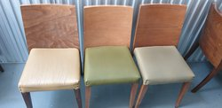 Restaurant chairs in muted neutrals
