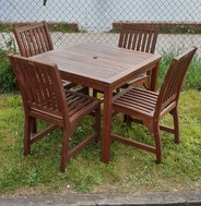 Outdoor Hardwood table with 4 chairs