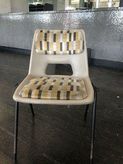 School chair / vintage London tube fabric
