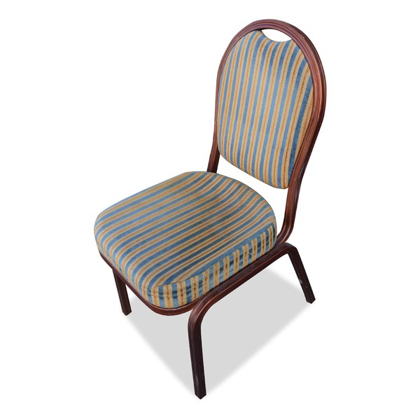 Striped banqueting chairs