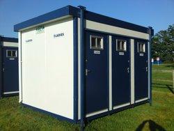 6 Bay Jack Leg Toilet Cabins