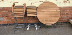 New York Folding Metal Framed and Hardwood Outdoor Sets