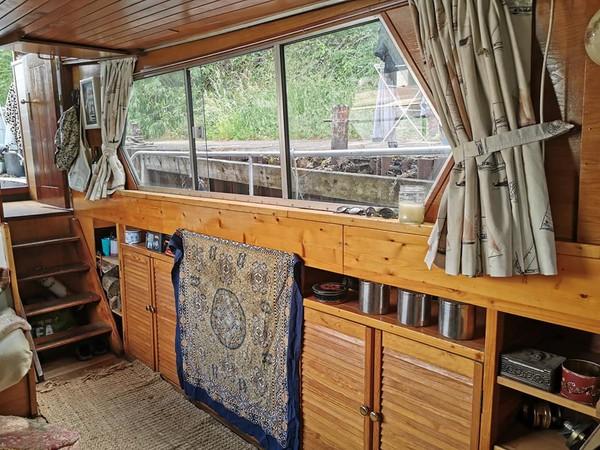 Dutch barge saloon