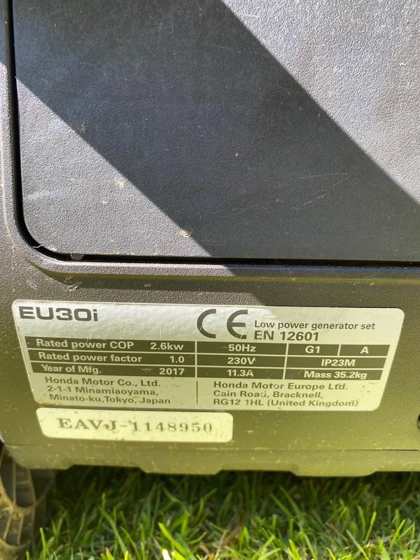 Honda Eu30i 3kva Inverter Portable Silent Generators for sale