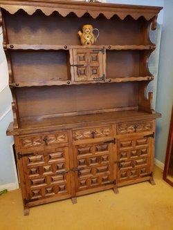 Traditional Spanish Wooden Pine Dresser