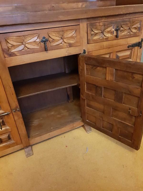 Ornate Pine Dresser cupboard