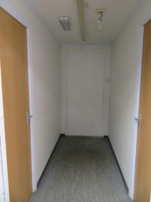 32' x 10' anti vandal split office central hallway