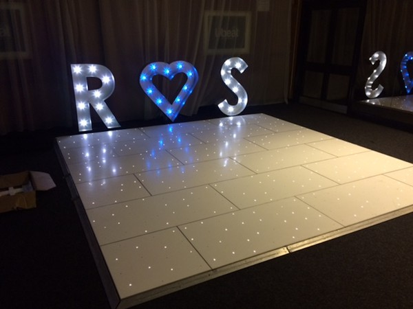 4ft Light Up Letters and Hearts for sale