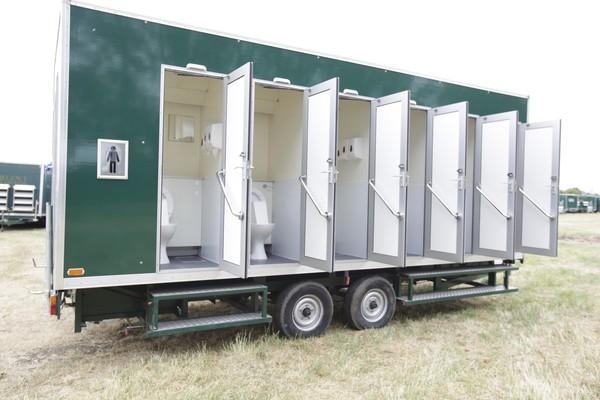 Two x Six bay toilet trailer