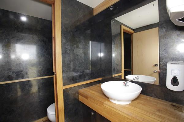 modern toilet trailer