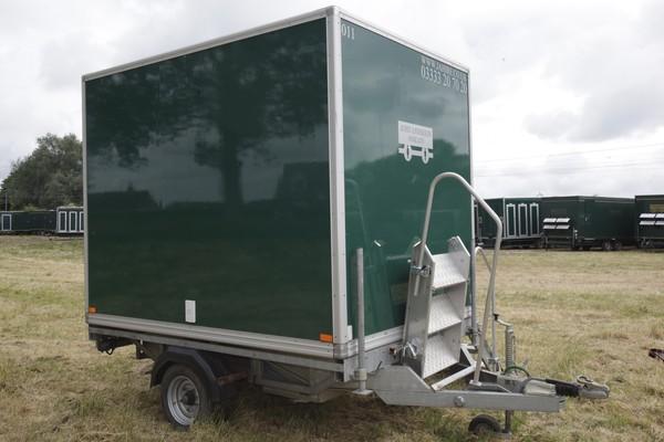 Secondhand single axle toilet trailer