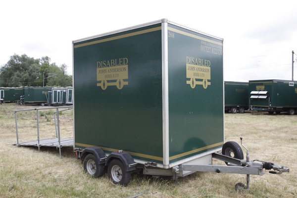 Compact disabled toilet trailer