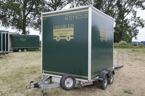 Green disabled toilet trailer for sale
