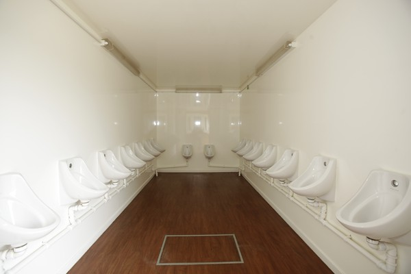 Gents trailer with 18 urinals