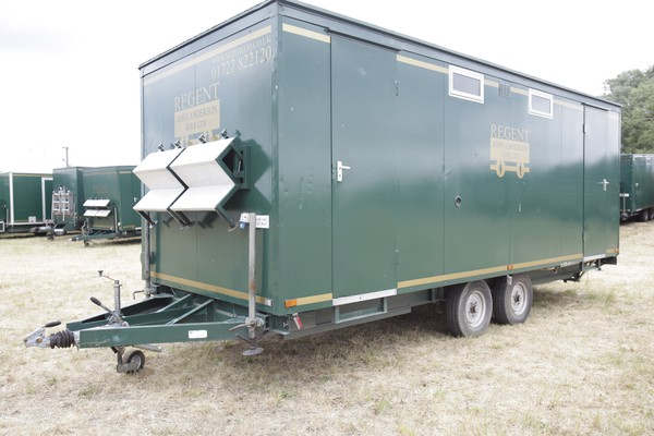 Used ex hire toilet trailer