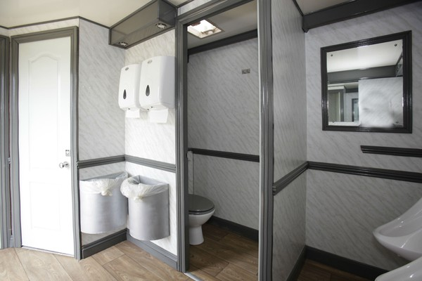 Gents side with cubicle