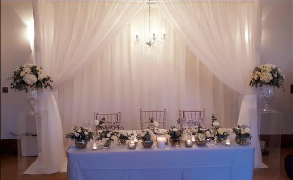 Double Chandelier Backdrop for weddings