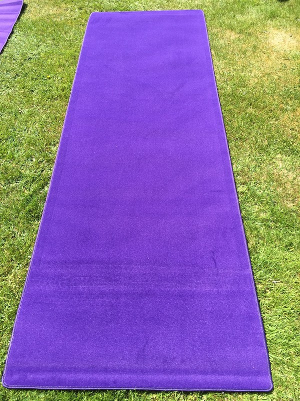 """Cadbury Purple"" VIP Carpeting Runners"