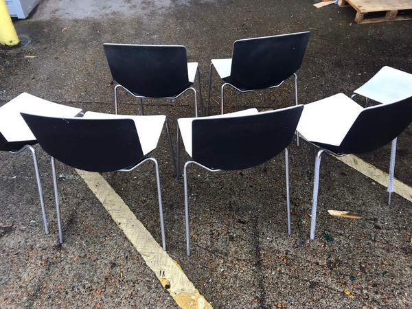 White  Italian Dining Chairs