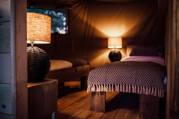 Bedroom glamping lodge