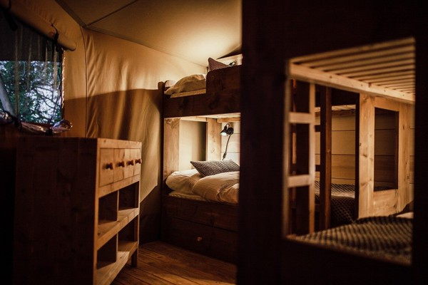 Bunk beds Glamping lodge