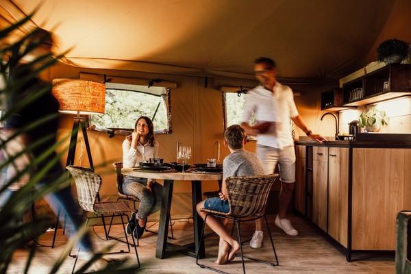 Glamping lodge kitchen
