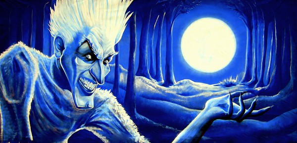 Giant 6m by 3m Professionally Hand Painted Jack Frost Backdrop
