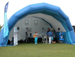 Inflatable stage cover / Marquee