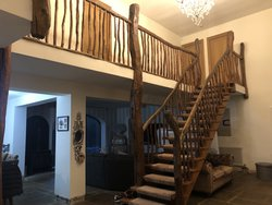 Unique Hand Crafted Solid Rustic Oak Staircase Parts