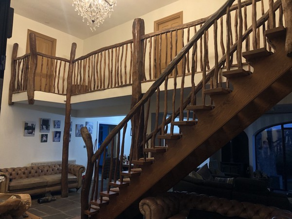 Bespoke Unique Hand Crafted Solid Rustic Oak Staircase Parts