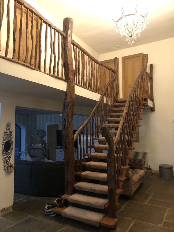 Reclaimed Unique Hand Crafted Solid Rustic Oak Staircase Parts
