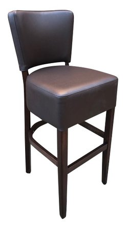 New. Faux Leather Bar Stool Chocolate Brown Assembled