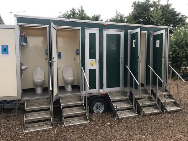 Used 10 Bay Toilet Unit