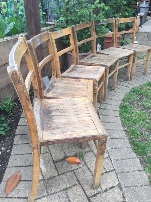 Wooden Church Chairs