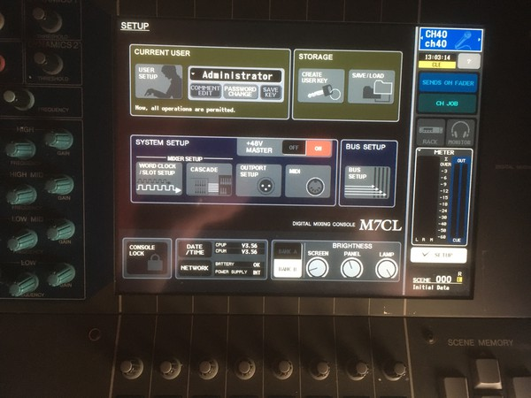 Selling Used Yamaha M7CL 48 Mixer