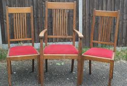 Oak dining chairs (six)